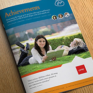 InDesign achievements brochure template preview