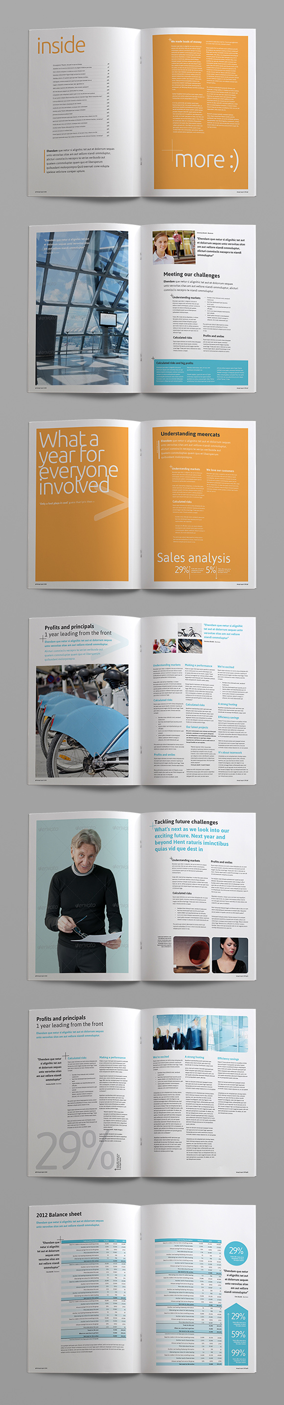 InDesign annual report template page preview