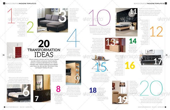 Designer magazine product page preview