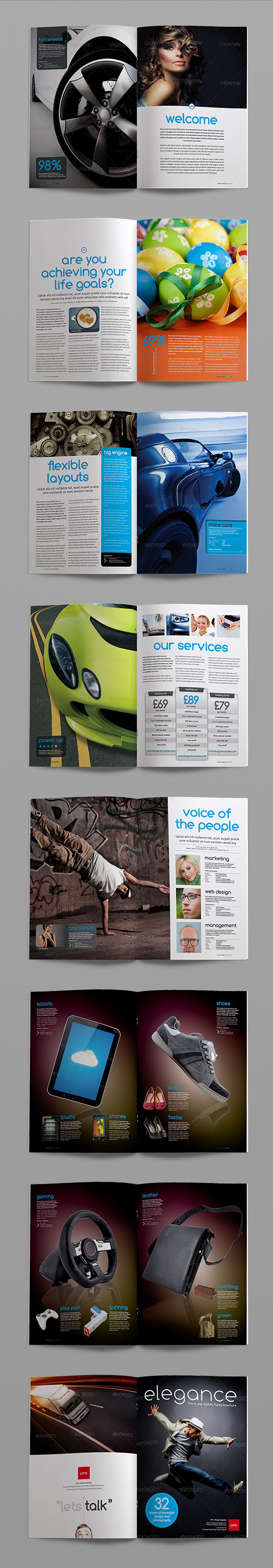 InDesign elegance brochure template page preview