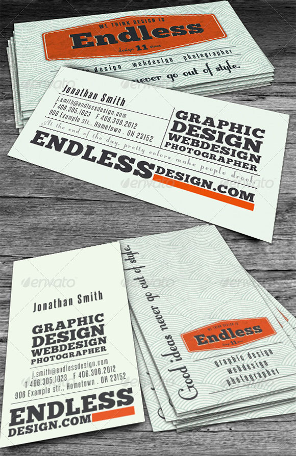 Endless Retro Business Card preview