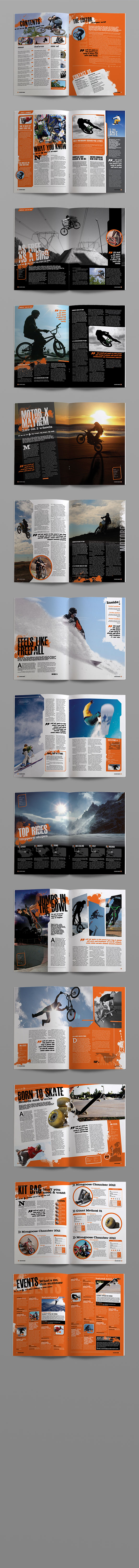 InDesign extreme magazine template page preview