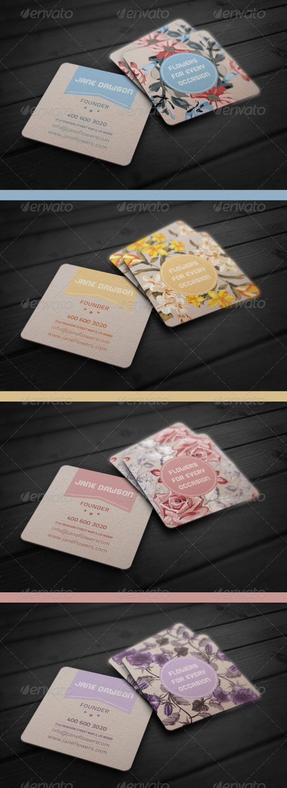 Flower Shop Business Card preview
