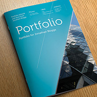 free indesign portfolio template preview