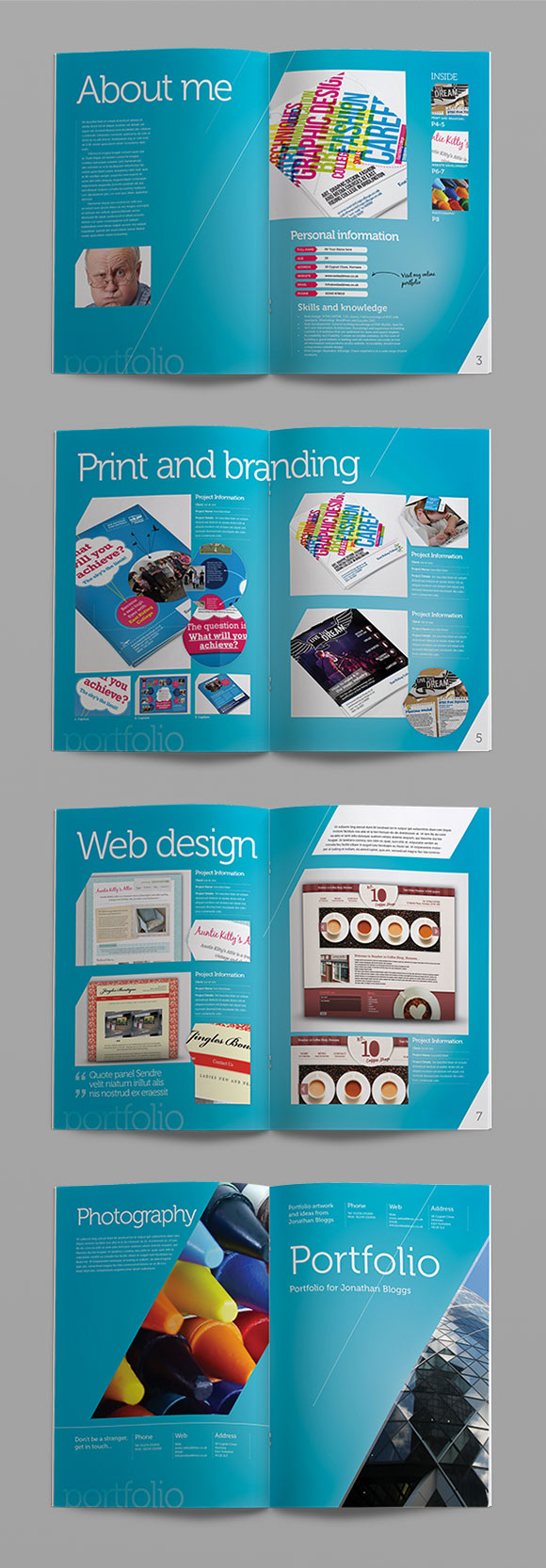 Free Eight Page InDesign Portfolio Template - CRS InDesign Templates