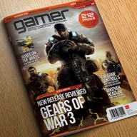 Gamer InDesign magazine template preview