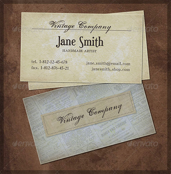 Good Old Vintage business card preview