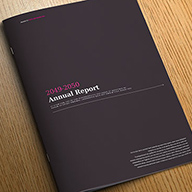 InDesign impact anual report template preview