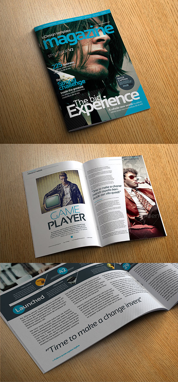 InDesign stylisg mag cover preview