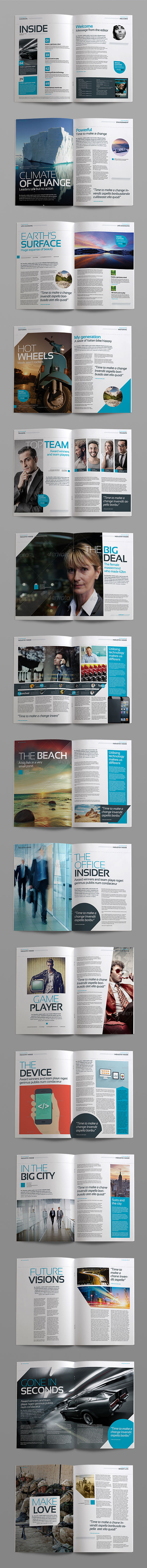 InDesign stylisg mag page preview