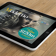 InDesign moderno ipad magazine template preview