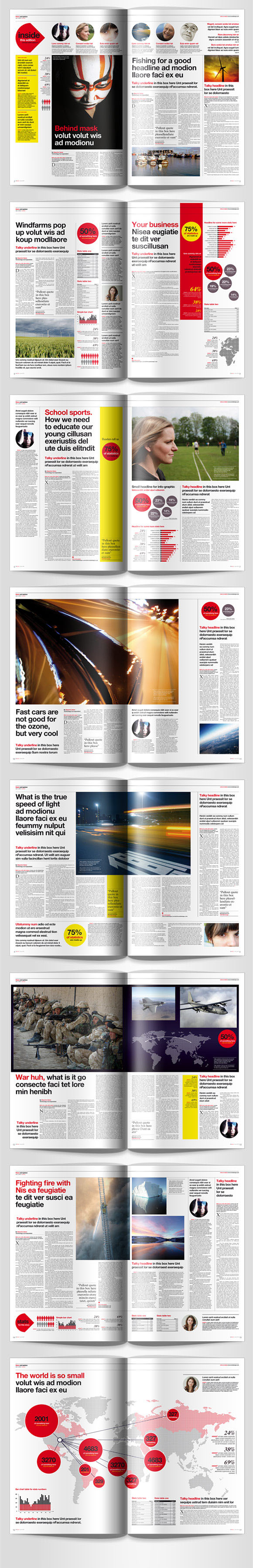 InDesign newspaper magazine template pages