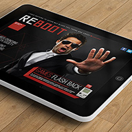 Reboot iPad magazine InDesign template preview