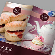 InDesign tea room menu template preview