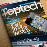 InDesign Tech Reviews magazine template preview