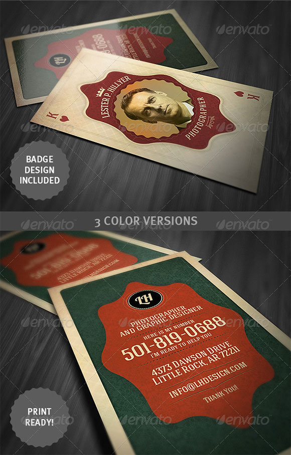 Vintage Playing Card - Business Card preview