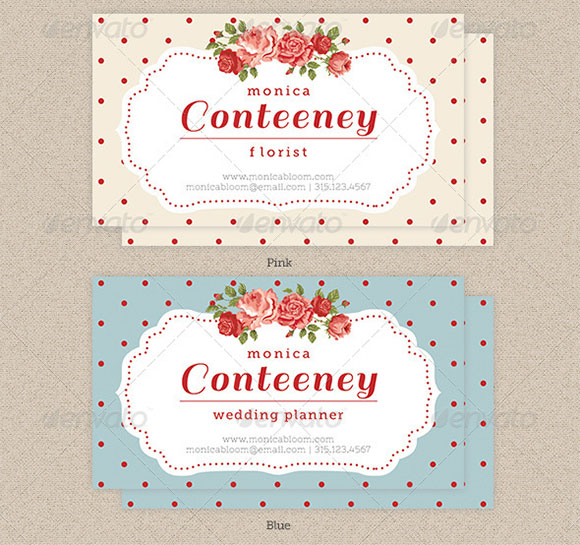 Vintage Rose Business Card preview