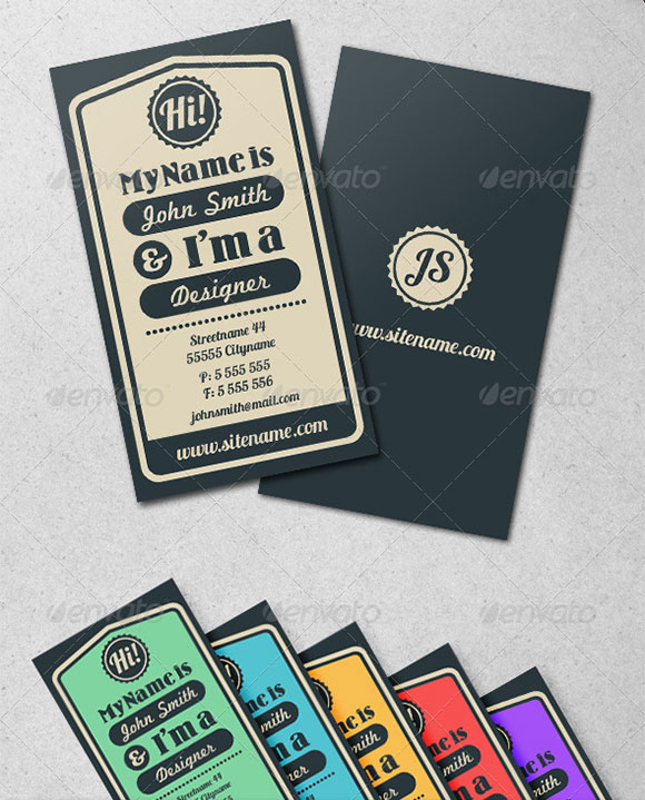 Vintage Typographic Business Card preview