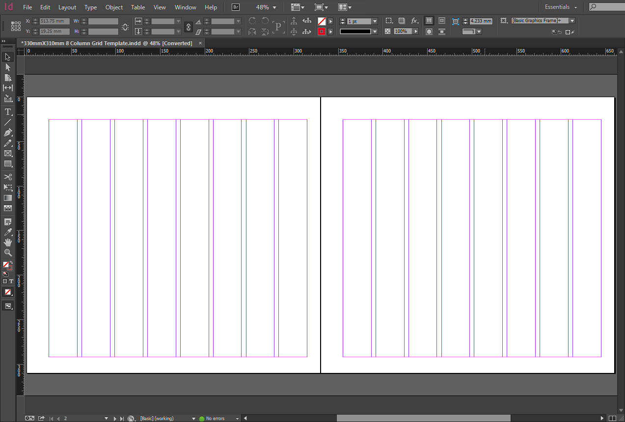 Free indesign 330mmx310mm 8 column grid template crs for 4 column brochure template
