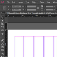 8 Column Grid Template Preview