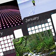 A3 wall calendar template thumbnail