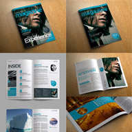 Stylish magazine template bundle thumbnail